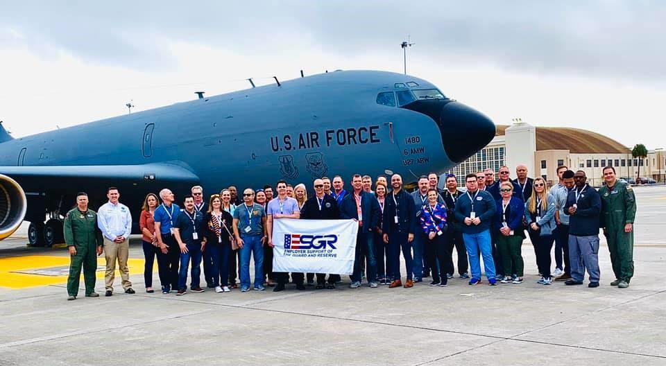 Civilian employers learn 927th ARW mission during ESGR Bosslift